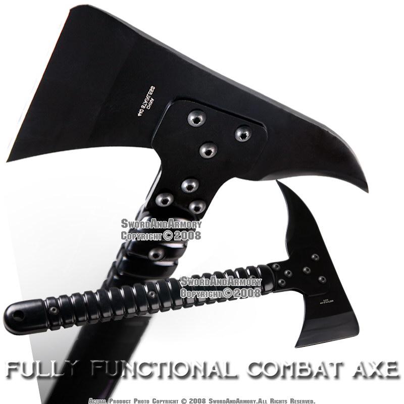Functional Combat Axe Hatchet Ax w/ Adjustable Handle