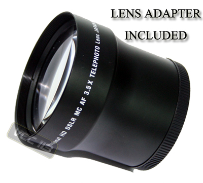 3 5x tele lens for panasonic lumix dmc fz28 dmc fz18 ebay. Black Bedroom Furniture Sets. Home Design Ideas