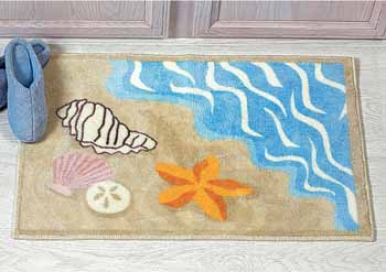 Seashell Shell Starfish Beach Rug Mat Bathroom Bathmat