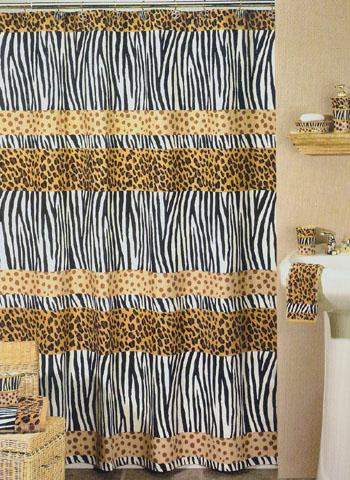funky animal print leopard cheetah zebra shower curtain ebay