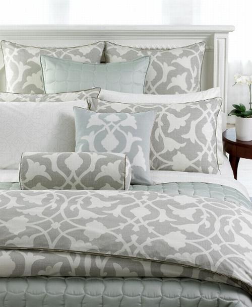 Barbara Barry Bedding Poetical Silver Queen Comforter New