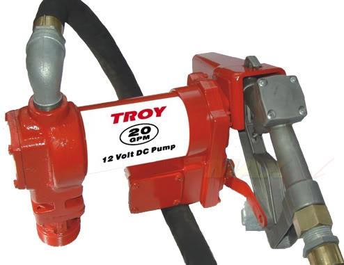 Troy 20 GPM 12V Heavy Duty Fuel Transfer Pump   TFTP20