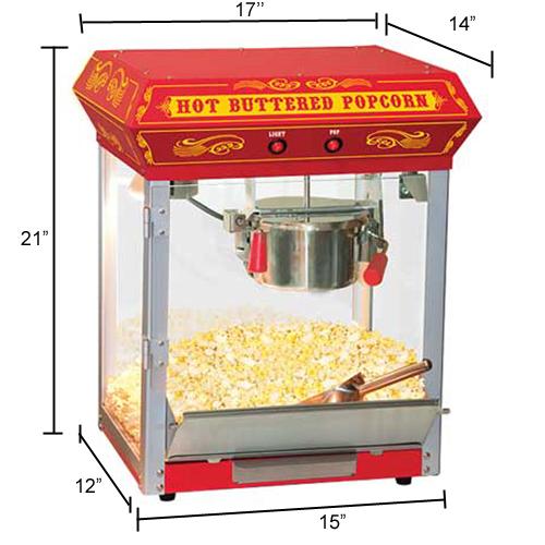 bar top popcorn machine