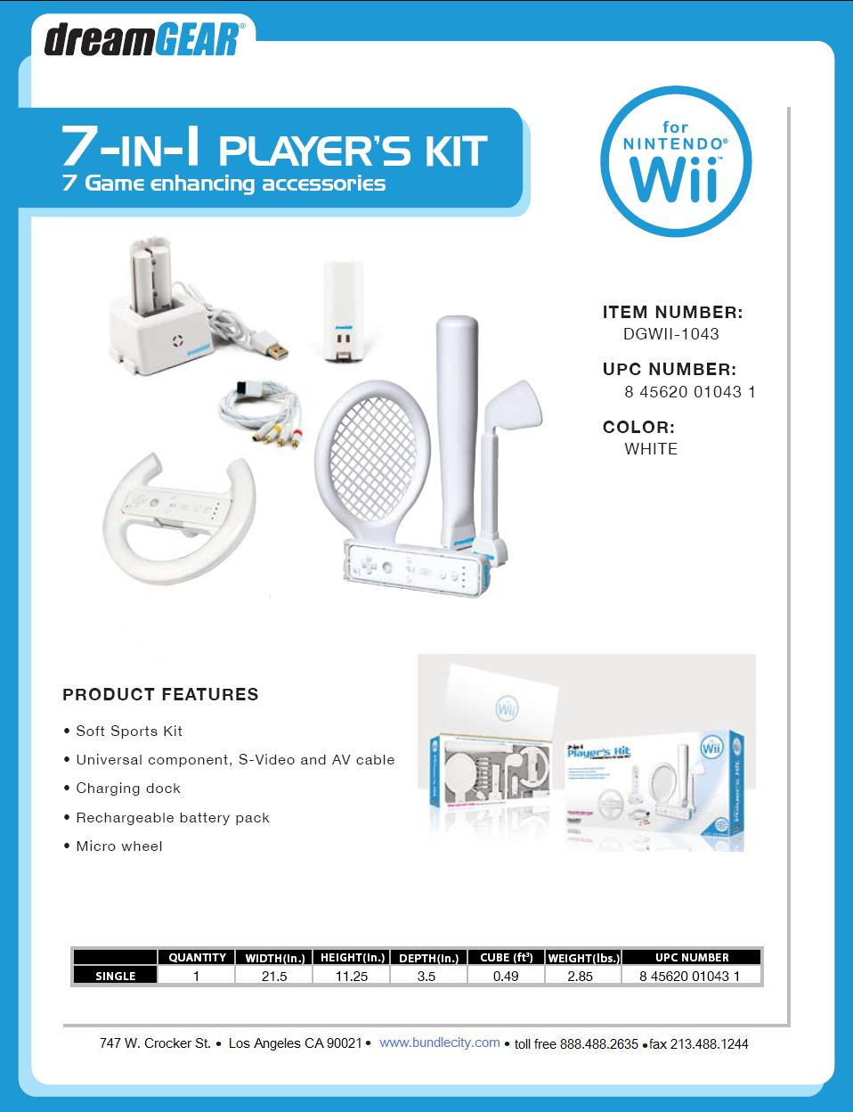 15in1 Nintendo Wii Kit