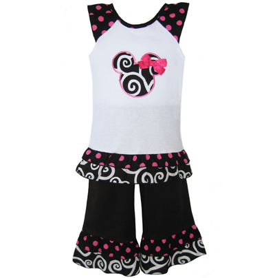 Minnie Mouse Clothing Girls on Annloren Girls Boutique Minnie Mouse