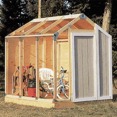 Universal Storage Shed Framing Kit Storage Wood Outdoor