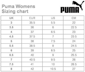 Puma size chart on sale off68 discounts
