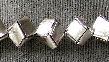 thai hill tribe silver cube beads