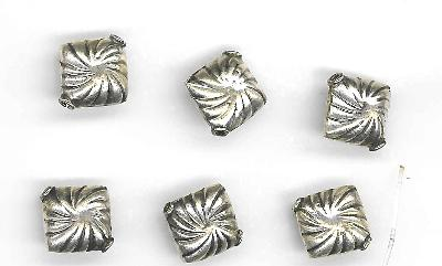 sterling swirl square beads
