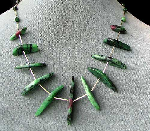 ruby zoisite sterling necklace