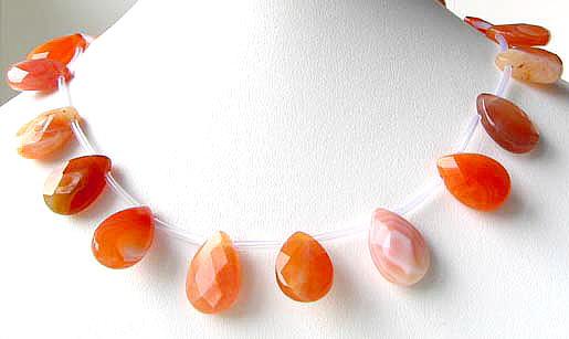 mandarin botswana briolette beads