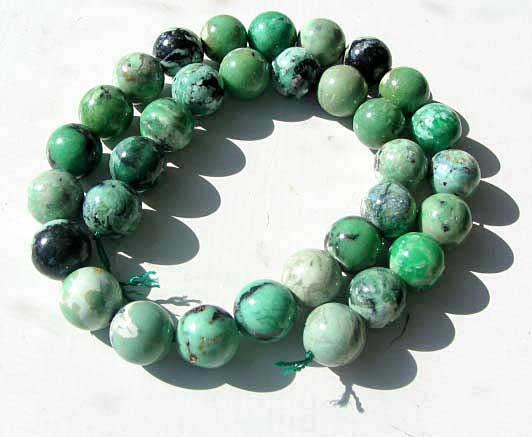 12mm round variscite beads