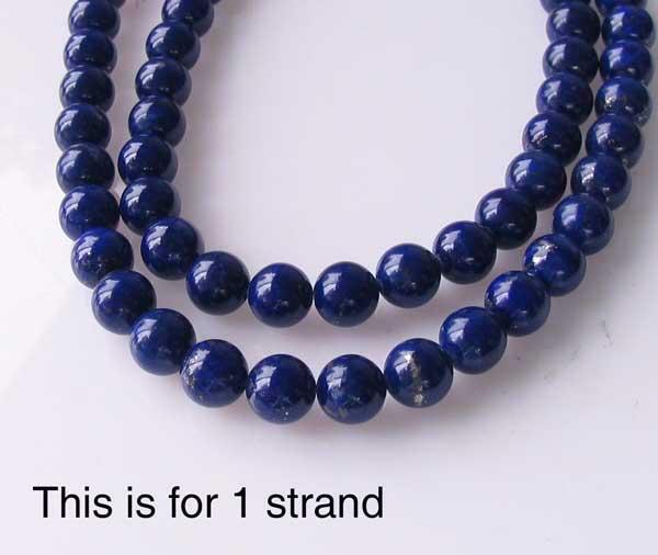 6mm round lapis beads