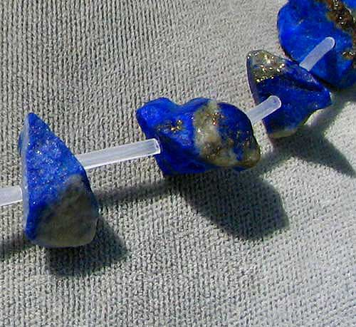 rough lapis nugget beads