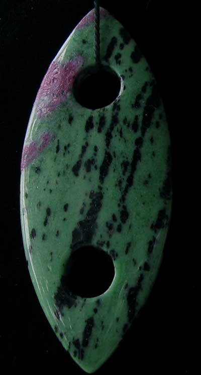 ruby zoisite marquis centerpiece bead
