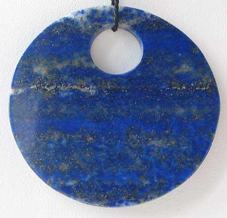 lapis disc pendant bead