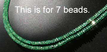 faceted natural emerald roundel beads