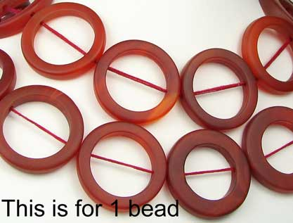 carnelian agate picture frame bead