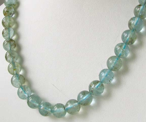 natural 10mm round aquamarine beads