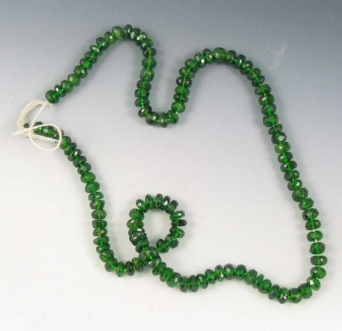 faceted chrome diopside beads