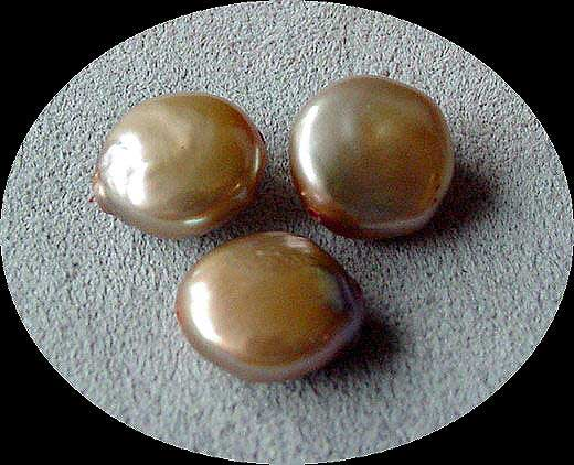champagne coin pearls