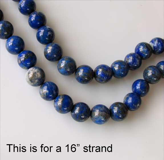 12mm round lapis beads