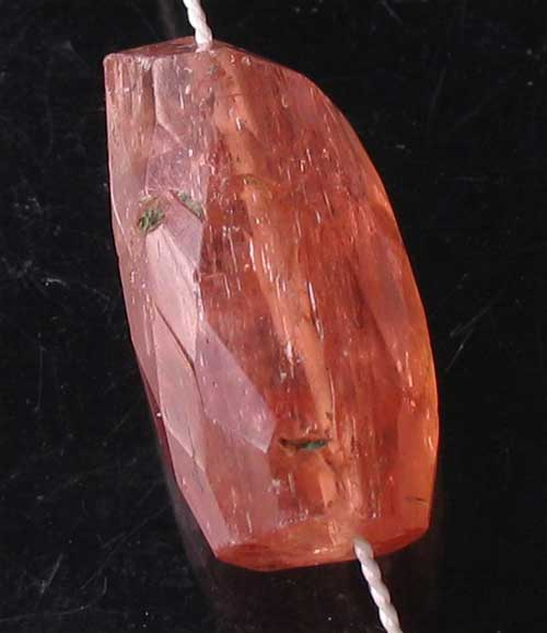 pink imperial topaz faceted nugget bead