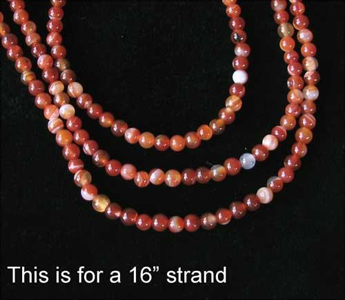 4mm carnelian agate beads