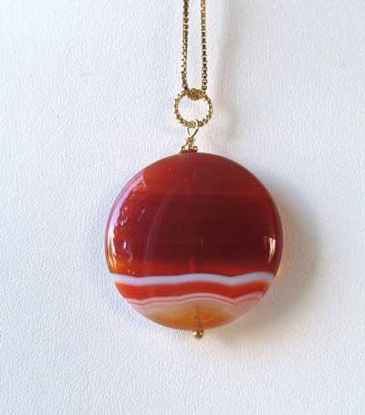 red carnelian 14Kgf pendant