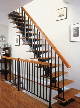 Straight Floating Metal Stair Kit 101 H 108 H EBay