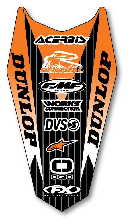 Ktm 350f. FX Rear Fender Decal KTM SX SXF 125-450 2011 14-32526 | eBay