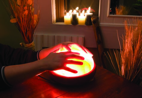 Warming hands on the Salt Detoxer