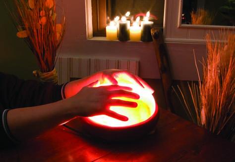 Warming hands on the Salt Detoxer