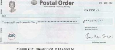 postal order