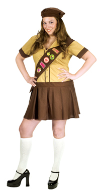 scout Sexy halloween costume girl
