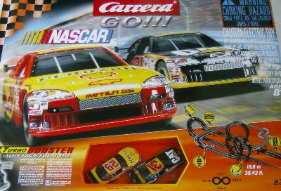 carrera nascar race car set large slot racing track ebay. Black Bedroom Furniture Sets. Home Design Ideas
