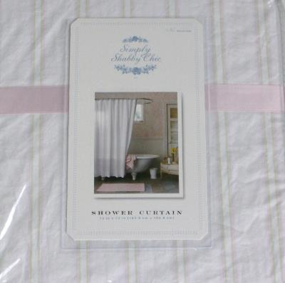 Simply Shabby Chic Striped Fabric Shower Curtain Ebay