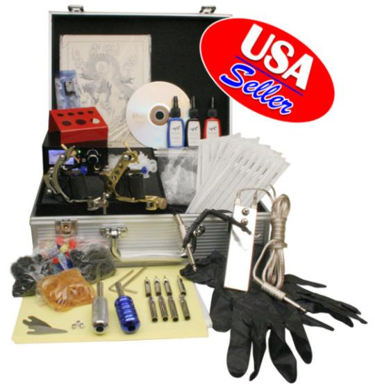 Complete Starter Tattoo Kit 2 Machine Analog Power Gun