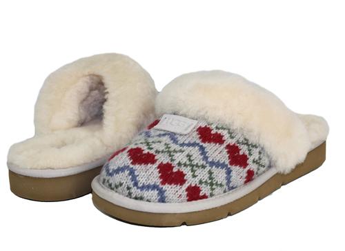 Seal Cozy Knit Hearts Womens Ugg Australia Slippers Ebay