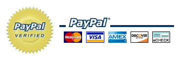 Process your Credit/Debit card or check payment securely with PayPal