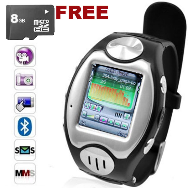 SVP Unlocked! Multimedia GSM Watch Phone/Touch Screen/MP3 Player/Free Bluetooth Headset + 8GB microSD at Sears.com
