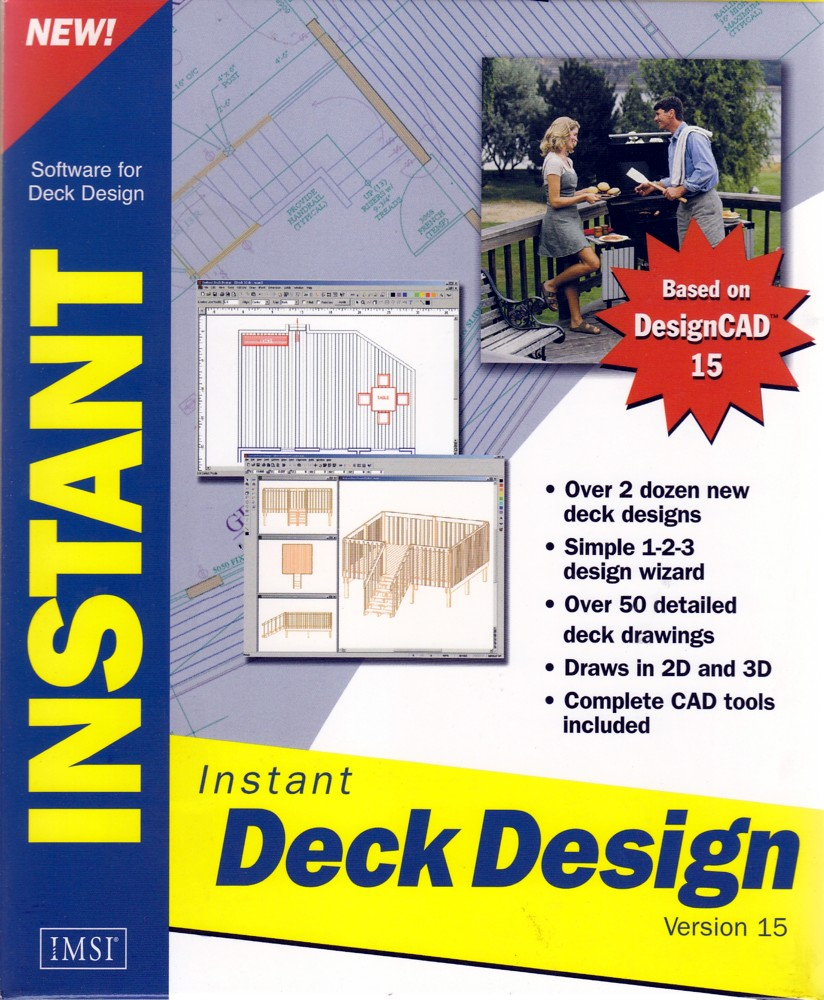 NEW! Deck DESIGN PC SOFTWARE CAD Tools Builder Plans 3D