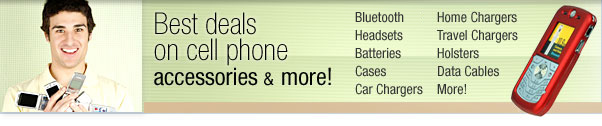 Best deals on cell phone accessories and more!