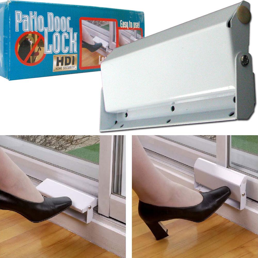 Sliding Patio Door Lock Home Security Ez Install Metal Ebay
