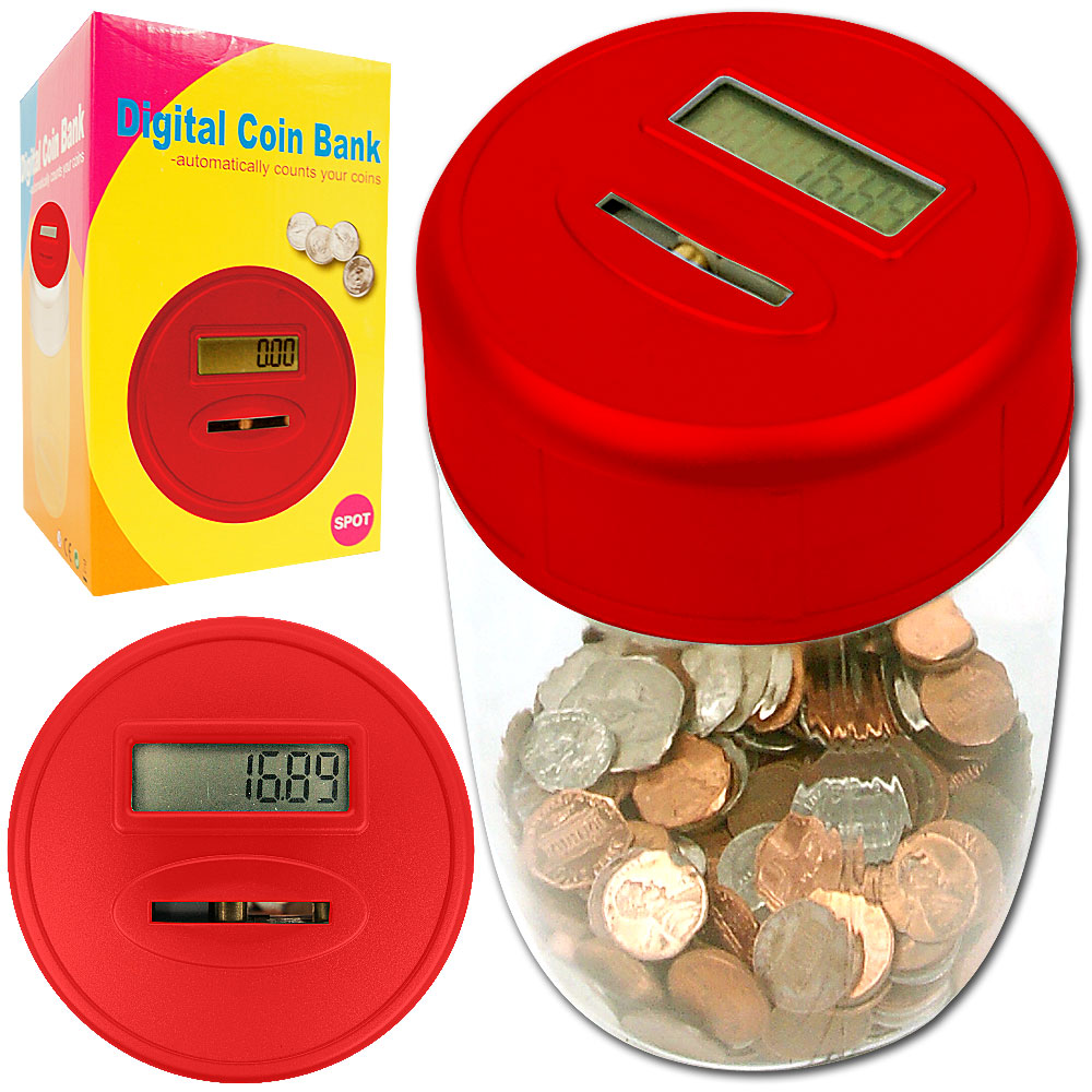 Ultimate automatic digital coin counting bank - Counting piggy bank ...
