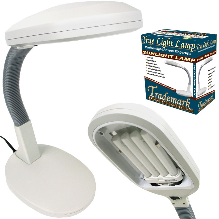 details about trademark sunlight desk lamp simulates natural light. Black Bedroom Furniture Sets. Home Design Ideas
