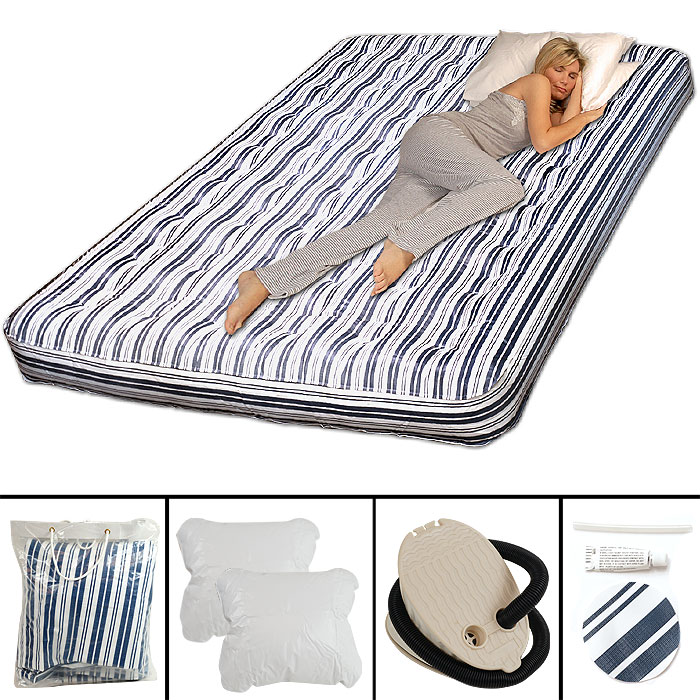 AirCloud Full-Size Air Mattress with Pillows