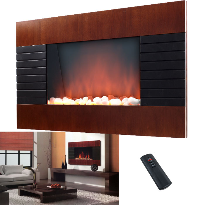 decorative wall fireplace heater with remote 750 1500w ebay