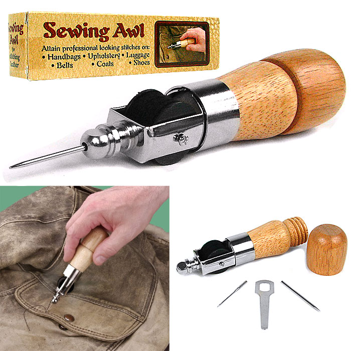 leather awl how to use
