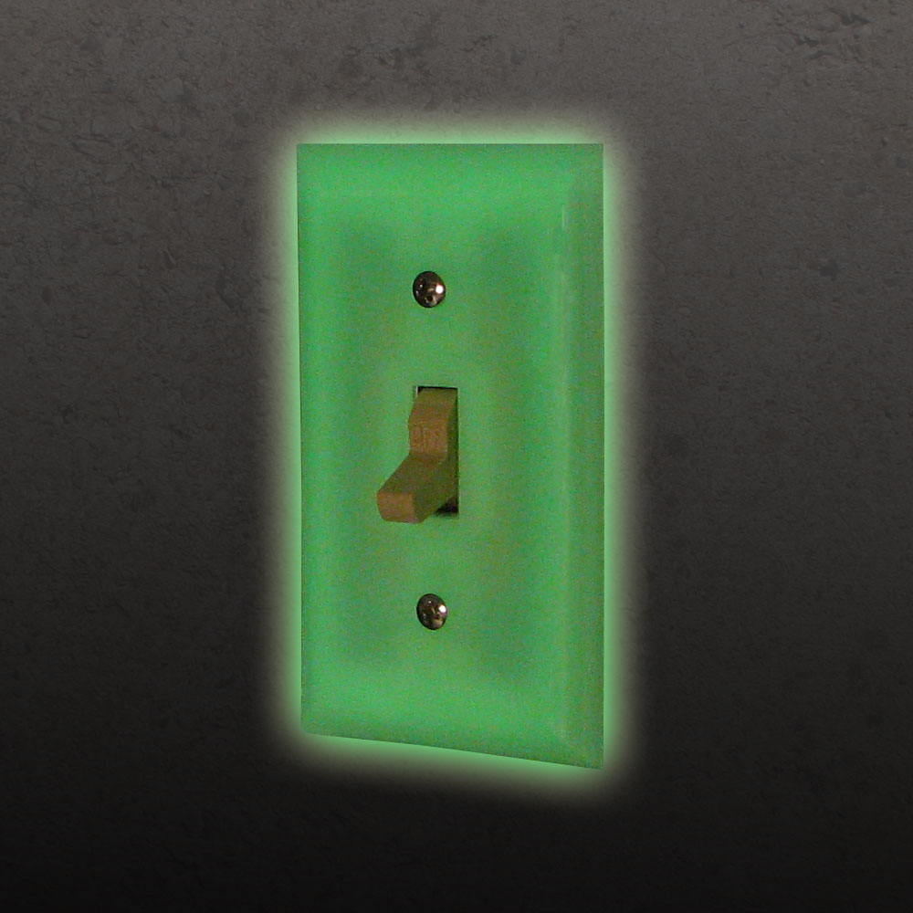 Set Of 4 Glowing Light Switch Covers Glow In The Dark